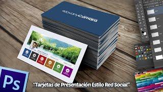 Tutorial Photoshop: Tarjeta de Presentación Estilo Red Social.
