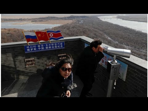 Road-tripping on the border between North Korea and China