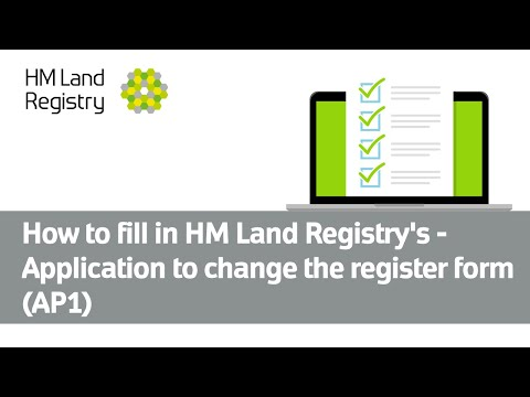 How to fill in Land Registry's - Application to change the r