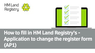 How to fill in HM Land Registry