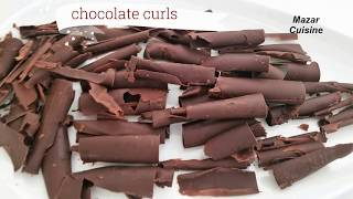 How To Make Chocolate Curls For Cake Decoration , Cake Toppers Recipe Mazar Cuisine