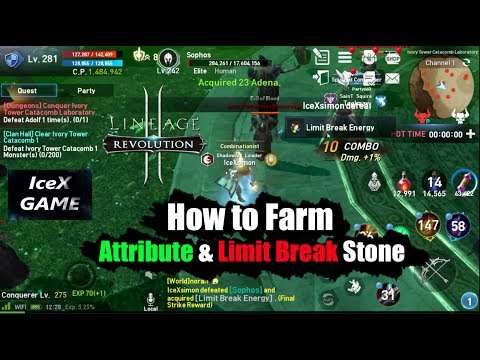 Lineage 2 Revolution How to Farm Attribute &  Limit Break St