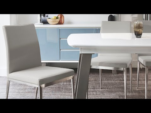 Lucia Brushed Metal Dining Chair