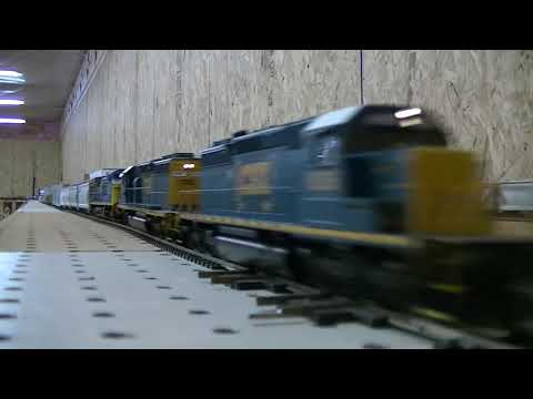 Fastest CSX HO scale model train on YOUTUBE
