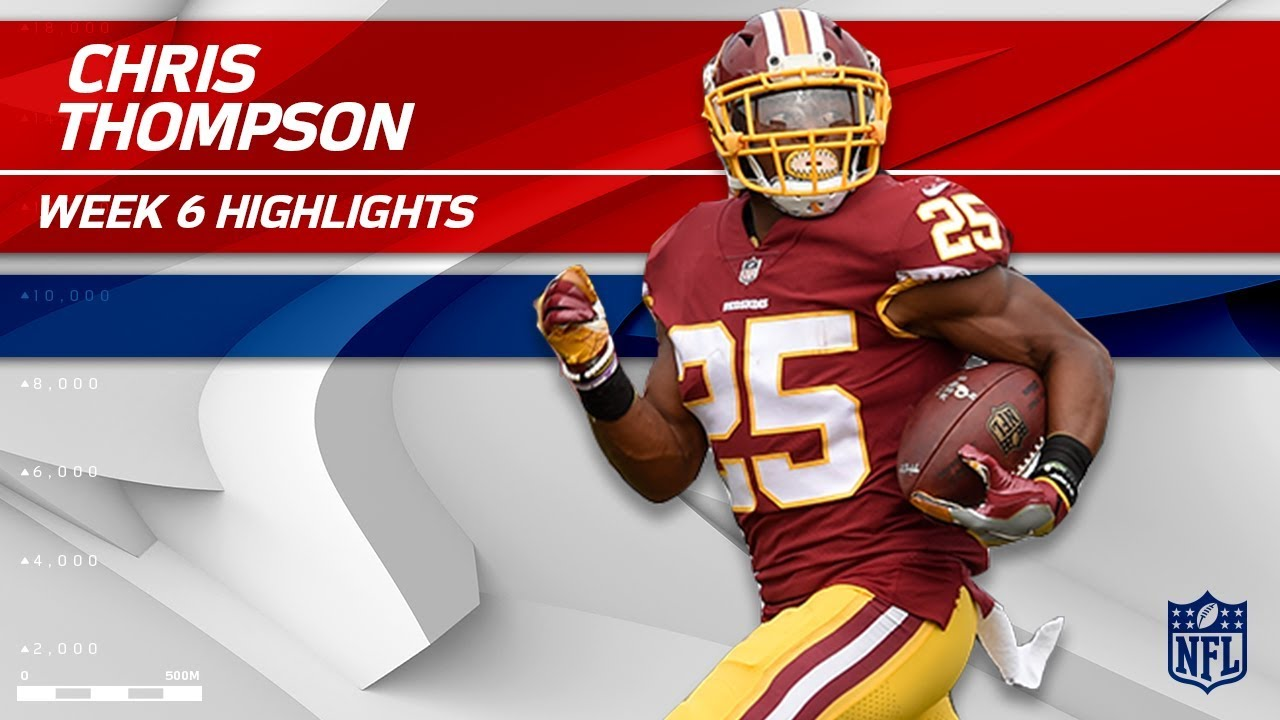 superior quality 05dd5 6364f Chris Thompson Tears Through San Fran for 138 Yards! | 49ers vs. Redskins |  Wk 6 Player Highlights