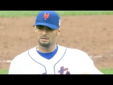 FLA@NYM: Santana pitches a shutout, fans nine