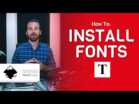 How To Install Fonts In Inkscape