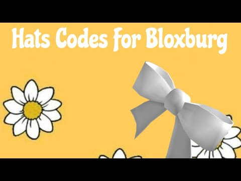 Bloxburg Custom Hat Codes Part 1 Youtube