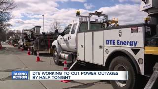 DTE working to cut power outages by half tonight