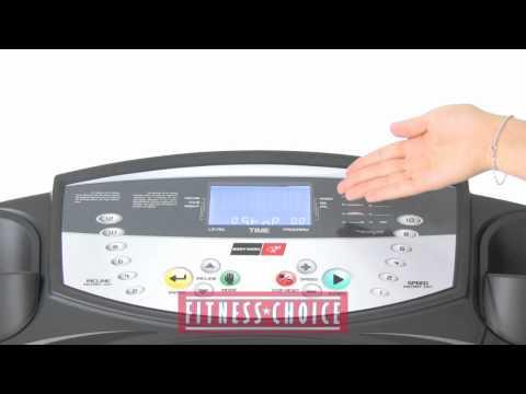 Bodyworx JX150 Heart Rate Control Treadmill Fitness Choice