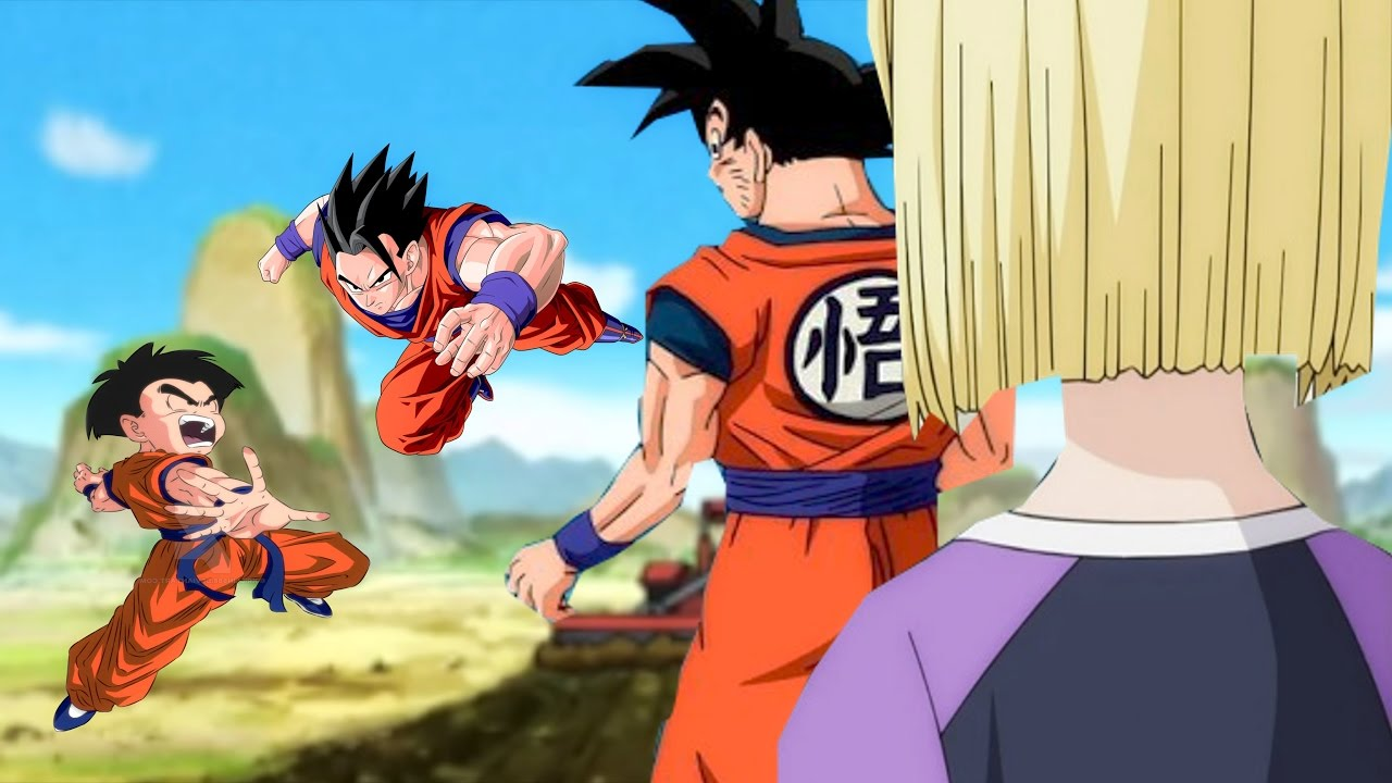 gohan meets krillins girlfriend Goku and gohan town would sound kind o' silly krillin: what i wanna know is which one of us gets to fight mister satan gohan's girlfriend hah, that kid.