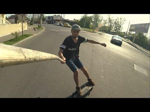 На серф-скейте по городу