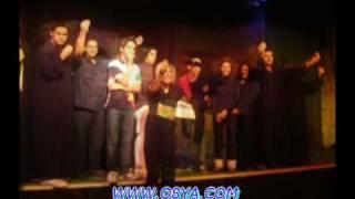 عيد ميلاد الفنانه هيا عبدالسلام في مسرحية مدينة الظلام