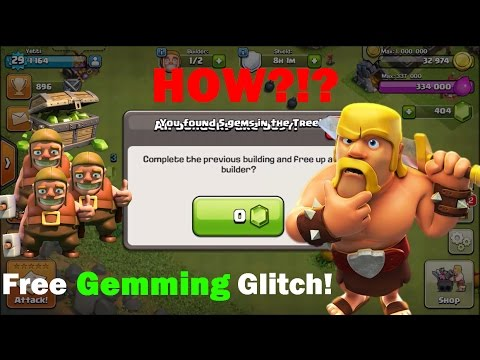 Clash Of Clans: NEW Gem Glitch! Finish The Construction of a Building for ZERO Gems!!!
