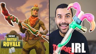 FORTNITE WEAPONS in REAL LIFE!!! CHALLENGE!! (DIY WEAPONS) *INSANELY DANGEROUS*