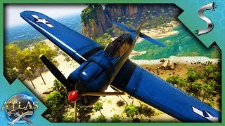 I ALMOST CRASHED IT! PLANES, TANKS AND AIRSHIP SHOWCASE! - Atlas [Pirate Survival Gameplay]