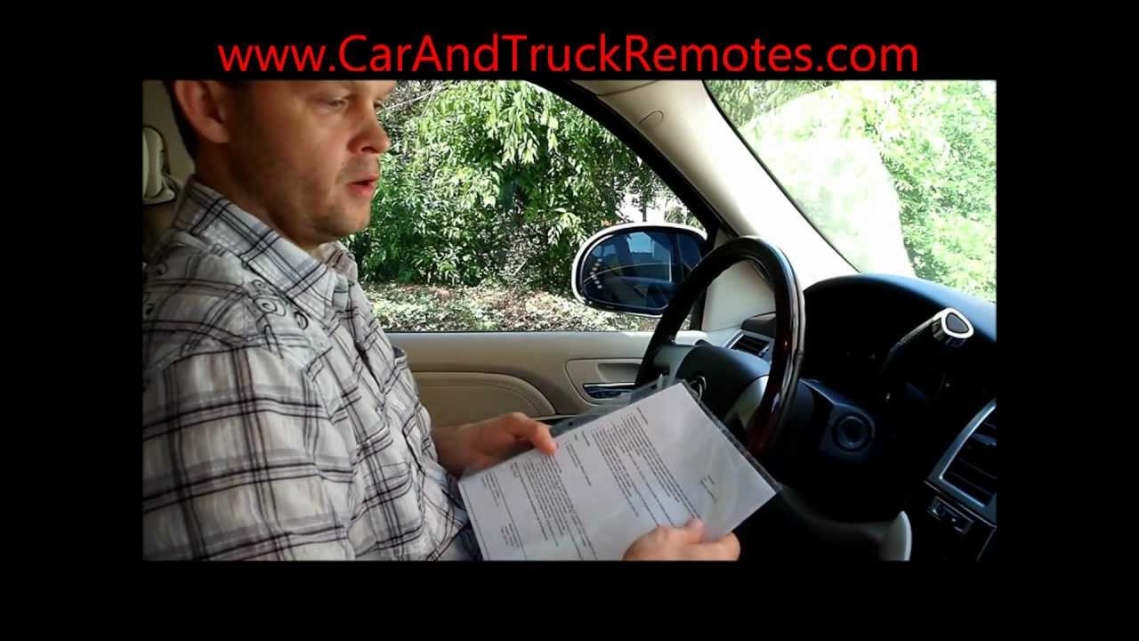 Chevy, GMC, Buick, Pontiac remote programming video