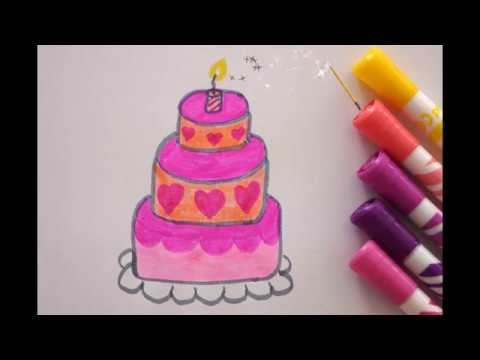 Torte Zeichnen Zum Geburtstag How To Draw A Birthday Cake