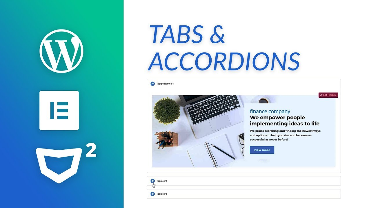 Tabs and Accordions on WordPress with Elementor - Elementor Tutorial