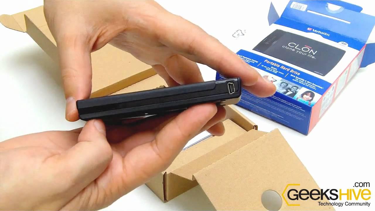 portable hard drive 320gb verbatim clon 2 5 usb 2 0 unboxing by rh youtube com 5TB External USB Hard Drive 1TB External Hard Drive
