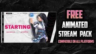 Free! Valorant Animated Stream Package