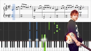 Ed Sheeran - How Would You Feel (Peaen) - Piano Tutorial + SHEETS