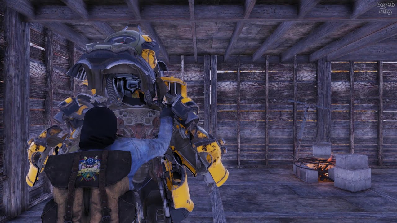 Кадр из видео Fallout 76 Счастливая Дыра Шахта, Пароль-Код От Двери, Модификация Раскопочные Сервоприводы, Свинец