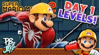 Super Mario Maker 2 Day One Popular Levels | Spider-Mario