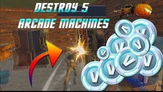Fortnite how  to destroy 6 arcade machines daily quest stw