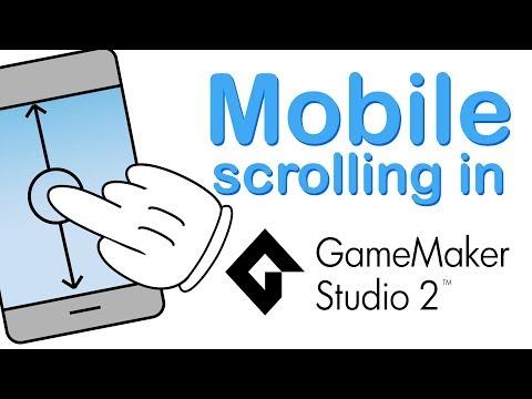 Mobile Scrolling In Gamemaker Studio 2 - Scroll, Swipe And Flick!
