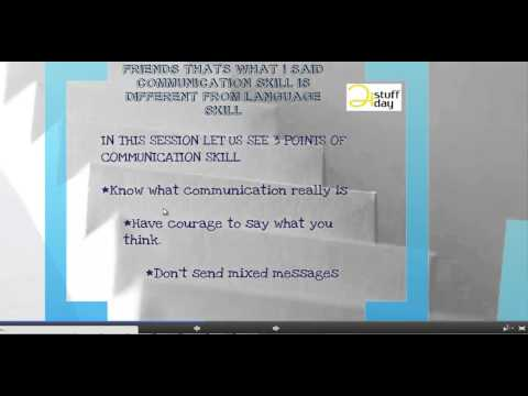 Why communication skill(TAMIL)