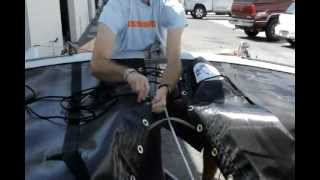 Hobie 16 Catamaran Trampoline Installation