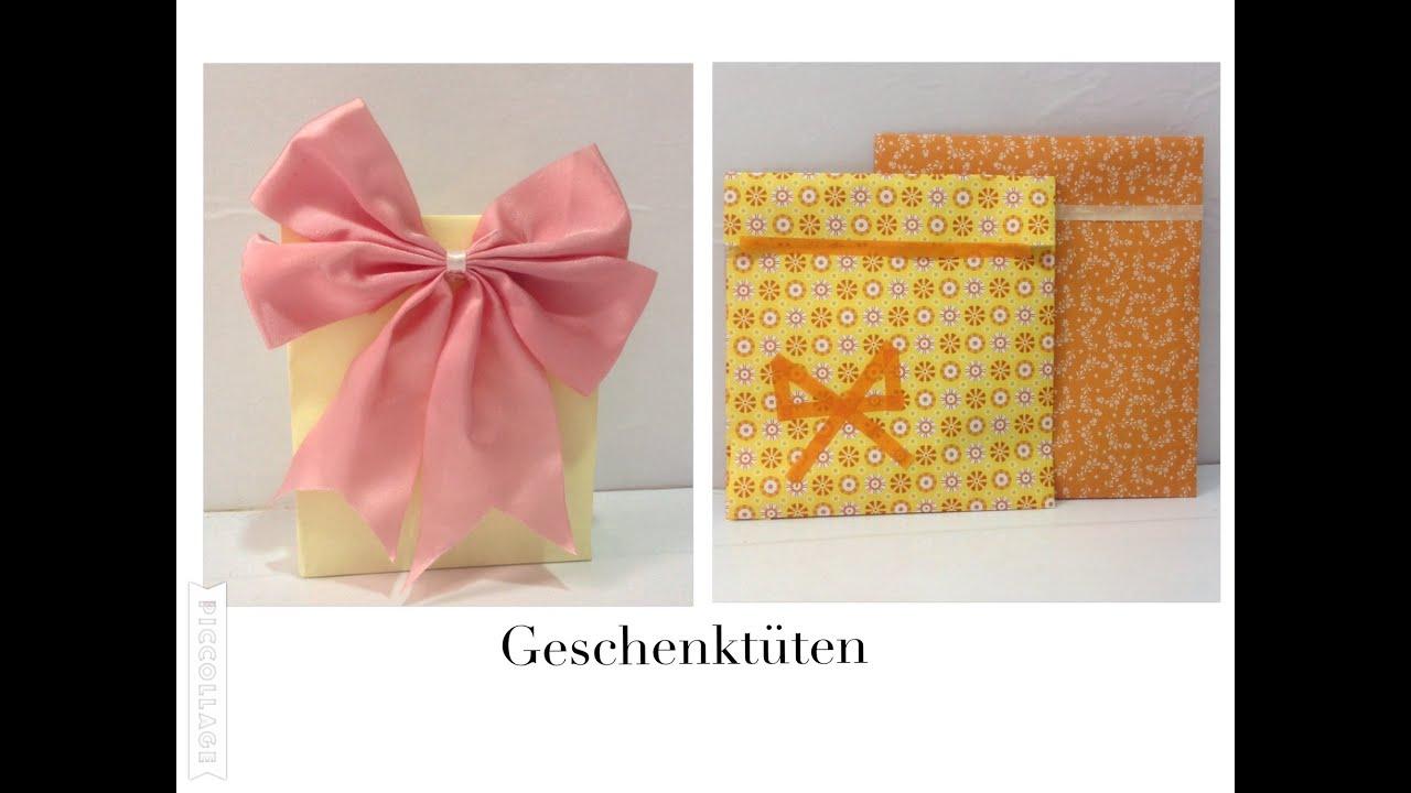 Geschenktüten Selber Basteln : 2 methoden geschenkt ten selber basteln youtube ~ Watch28wear.com Haus und Dekorationen