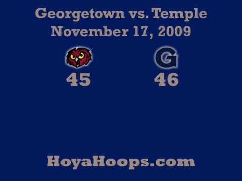2009-10 Georgetown vs Temple - GU Players