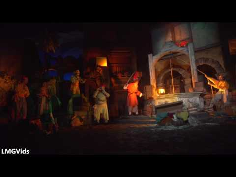 [4K] 2017 Pirates of the Caribbean ride (Newly Refurbished) Low Light POV Disneyland