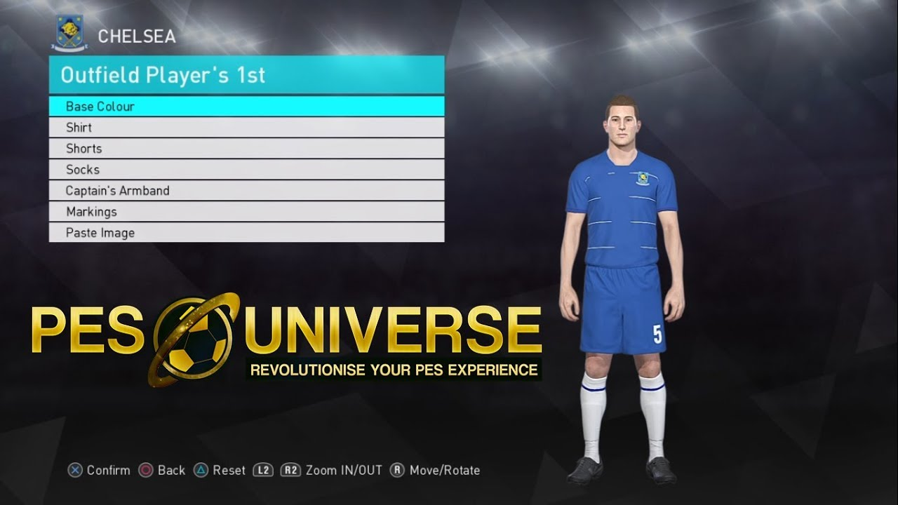 PES 2018 2019 Kit Editing XBOXONE/360 - CHELSEA Home Kit 18/19