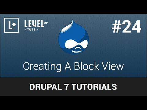 Drupal Tutorials #24 - Creating A Block View