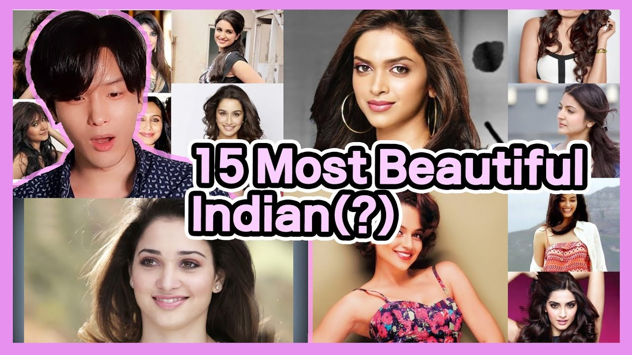 Korean Reacts to 【Top 15 Most Beautiful Indian Women】 | Indian Actress Reaction by Foreigner