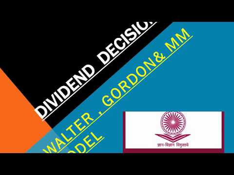 Dividend  decisions||Gordon, Walter, MM Model ||Financial Management||UGC-NET Commerce||July 2018