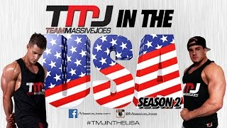 TMJ In The USA! Season 2 Ep 3: Gold's Venice Back Workout | MassiveJoes.com Mr Olympia Tour 2014