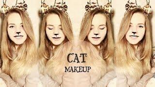 новогодний макияж кошки/cat makeup