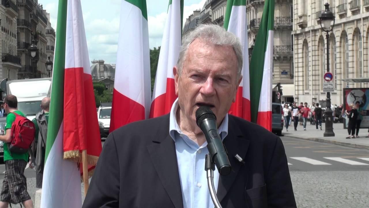 Des manifestants à Paris contre le visite de Javad Zarif à Paris - Yves Bonnet