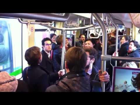 Les Chants de Coton - Flashmob tram - Nantes