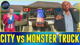 GTA 5 Online : CITY vs MONSTER TRUCK!!!