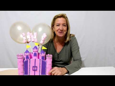 How to make a princess castle using toilet paper