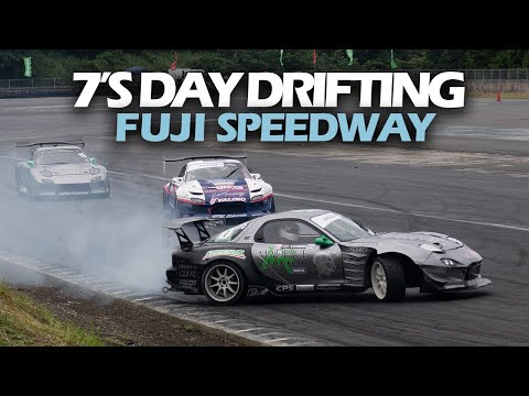 RX7 Rotary Drifting! 7's Day In Japan