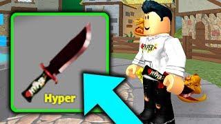TENGO MI PROPIO KNIFE PERSONALIZADO EN ROBLOX MURDER MYSTERY X!!