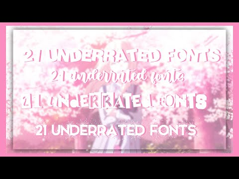 21 Underrated Fonts You Should Use!