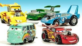 disney cars movie hot rod car set lightning mcqueen mater king filmore ramone disneycartoys