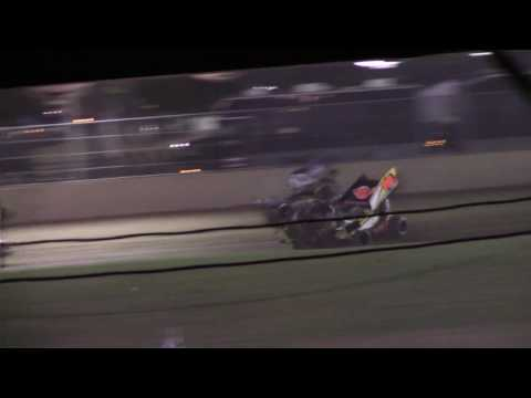 Little Valley Speedway Sprint Car Flip 7-1-16